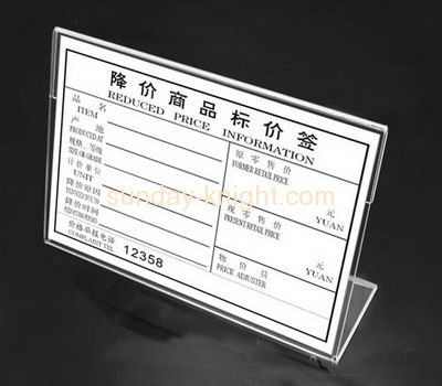 China acrylic manufacturer customized clear plastic acrylic price tag holder ODK-206