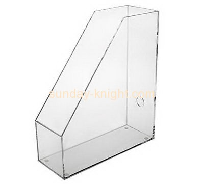 Acrylic display stand manufacturers customized clear lucite magazine holder BHK-074