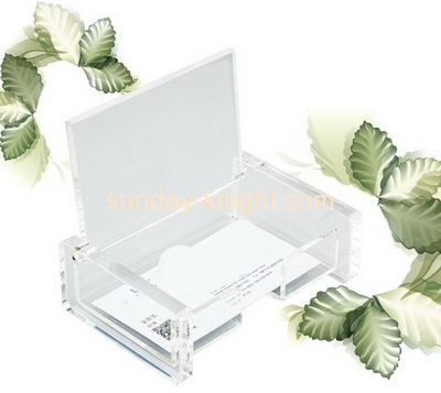 Acrylic display manufacturers custom acrylic plastic products business card holder BHK-203