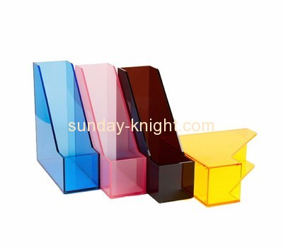 Clear acrylic supplier custom plastic magazine file holder display stands BHK-298