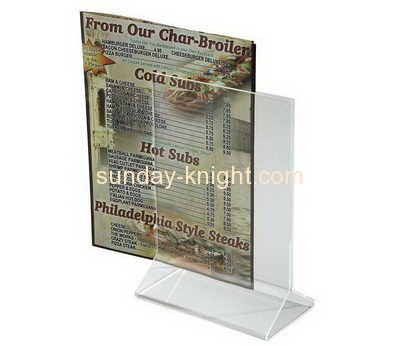 Plastic company custom tabletop 8x10 sign display holder BHK-333