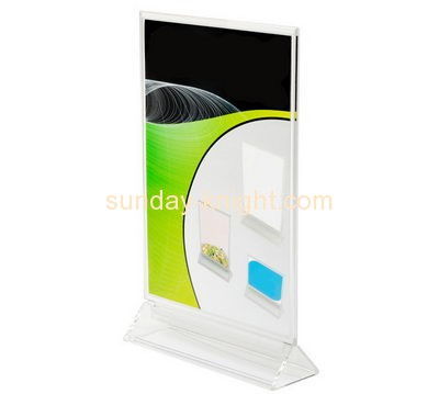 Acrylic display factory custom plastic fabrication table signs BHK-347