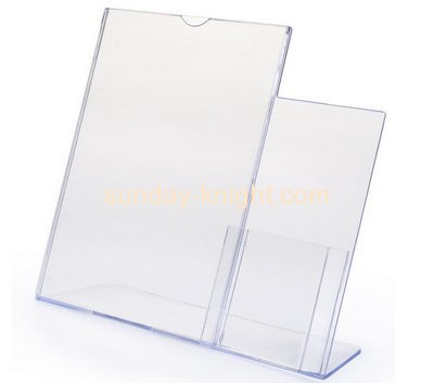 Lucite manufacturer custom clear plastic acrylic sign display holder BHK-363