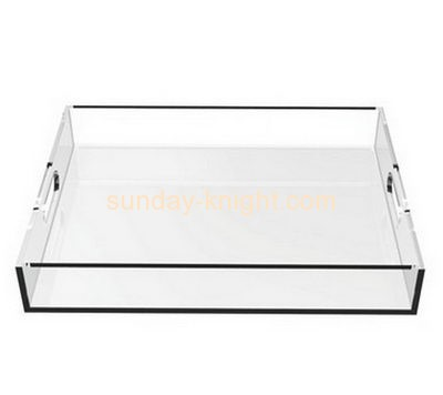 Acrylic manufacturers custom lucite tray stand holder HCK-058