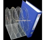 acrylic clear brochure file holder with two dividers BHK-001