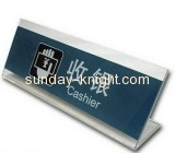 Acrylic customize cashier sign holder HCK-004