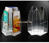 Acrylic round shape brochure holders BHK-002