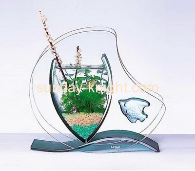 Acrylic heart shape mini fish bowl FTK-004