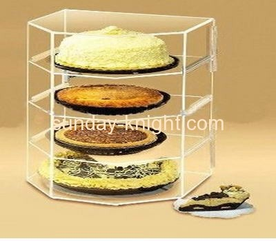 Four tiers acrylic cake display box FSK-006