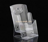 Clear lucite brochure holder with divider BHK-007