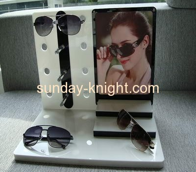 L shape acrylic sunglasses display stand with holder and hanger SDK-008