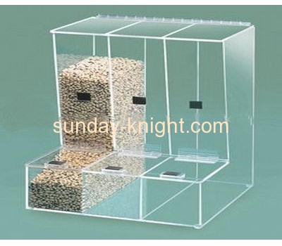 Acrylic candy storage box with two dividers and lids FSK-015