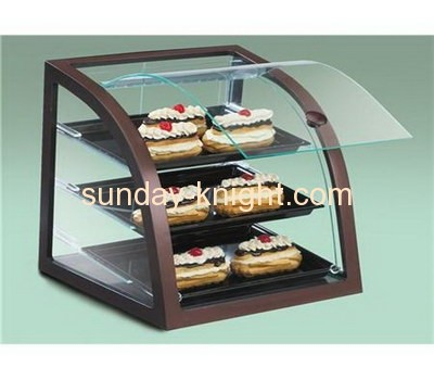 Cake display and storage case with three layers and lid FSK-016