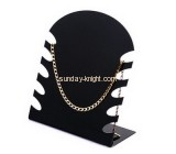 Black acrylic display stand for holding 4 necklace JDK-014