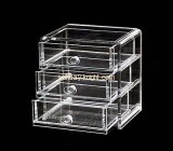 Acrylic jewellery storage box with three drawers JDK-016