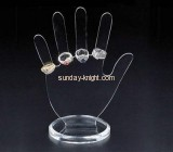 Black hand with five fingers shape acrylic display stand for ring JDK-015
