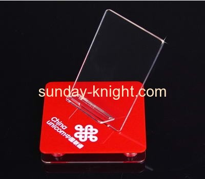 Plexiglass cell phone display stands with red holder CPK-010