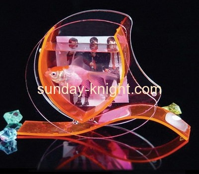 Color acrylic fish bowl with picture frame FTK-010