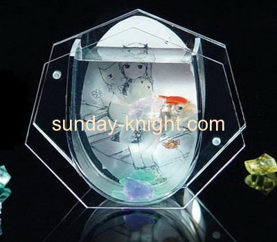 Transparent perspex fish bowl with photo insert FTK-011