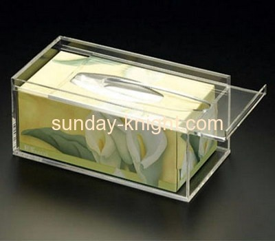 Clear acrylic storage box for facial tissue paper AHK-009