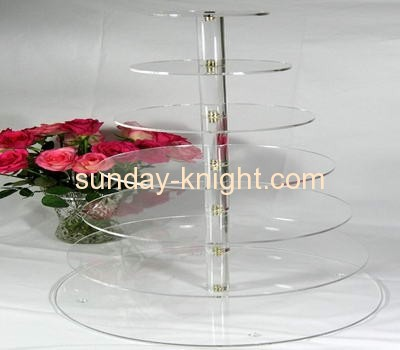7 tiers acrylic round cupcake stands