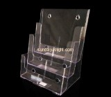 Clear acrylic brochure with three holders BHK-016