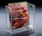 Transparent acrylic magazine display holder BHK-018