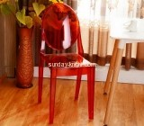 Red acrylic ghost chairs for meeting room AFK-027