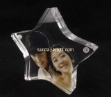 Clear acrylic five pointed star shaped photo frame APK-020