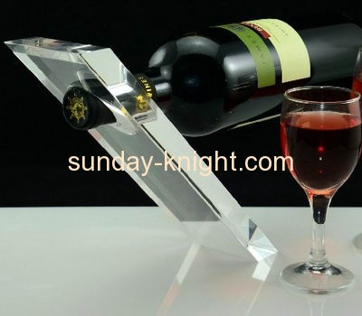 Transparent acrylic display stand for wine bottle WDK-014