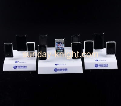 White acrylic cell phone display stand CPK-013