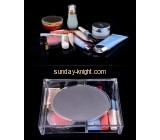 Clear lucite cosmetics storage box with mirror MDK-029