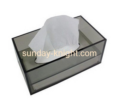 Grey acrylic face tissue paper holder box AHK-019