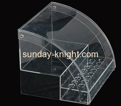 Clear lucite roof shape food display box FSK-023