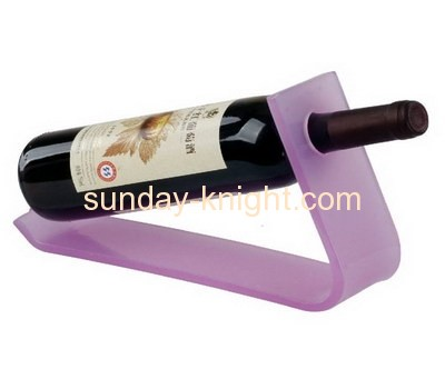 L shape pink lucite wine bottle display stand WDK-023