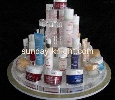 Four tiers round lucite cosmetics display stand MDK-031
