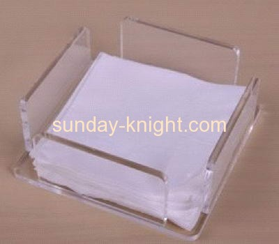 Clear acrylic napkin table tissue paper holder