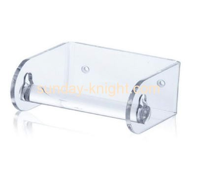 New design clear acrylic wall fastening rolling tissue paper rack AHK-023