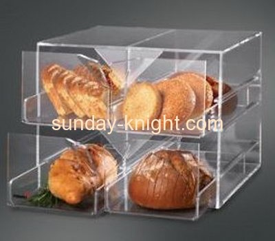 New style 2 tiers clear acrylic bread storage box with 4 drawers FSK-028