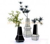 Factory wholesale top quality acrylic flower vase AHK-030