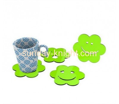 Elegant smile shape clear acrylic cup coaster HCK-027