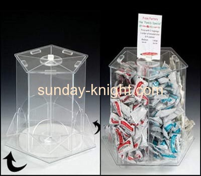 Top quality custom made clear acrylic dispenser candy box with lid FSK-029