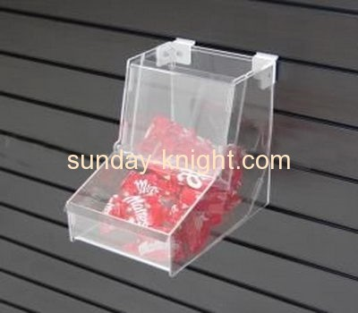 Fashion design wall mounted clear acrylic candy display box by cnc engraving machine FSK-030