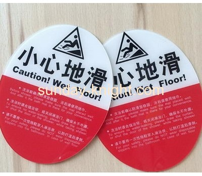 2016 new design top quality acrylic warning sign in hotels HCK-029
