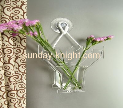 Wall mounted Y shape types of flower acrylic plastic vase AHK-032