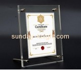 Custom design acrylic a4 certificate holder with top quality APK-029