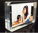 Chinese factory custom clear acrylic block love photo frame APK-031