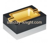 Factory customize black acrylic plastic ashtray HCK-038