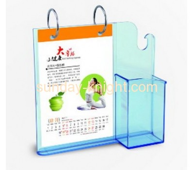 Acrylic desktop calendar stand with pen holder BHK-030