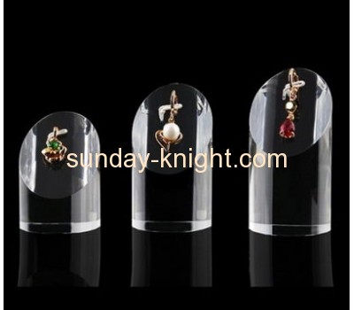 Clear acrylic block jewelry display stand JDK-036
